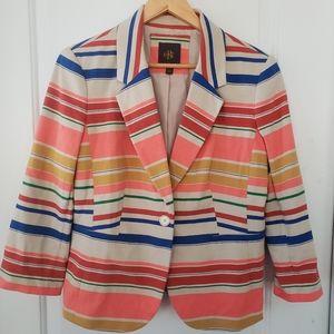 OBR multi-color striped blazer sz XL